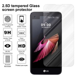 Cadorabo Tempered Glass works with LG X SCREEN in HIGH TRANSPARENCY - Screen Protection 3D Touch Compatible with 9H Hardness - Bulletproof Display Saver