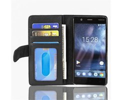 Cadorabo Book Case works with Nokia 3 2017 in MIDNIGHT...