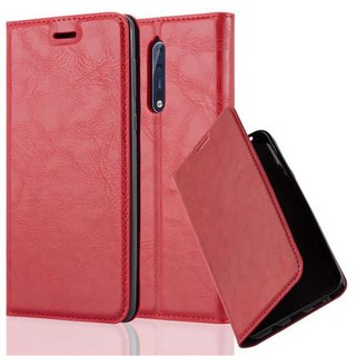 Cadorabo Book Case works with Nokia 8 2017 in APPLE RED -...
