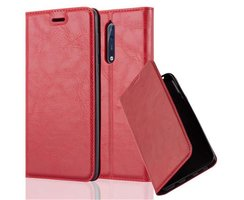 Cadorabo Book Case works with Nokia 8 2017 in APPLE RED...