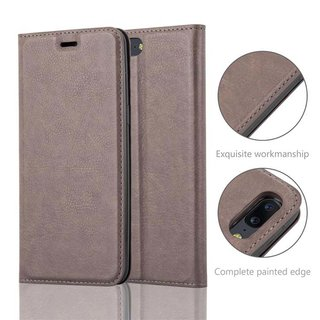 Cadorabo Book Case works with OnePlus 5 in COFFEE BROWN -...