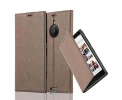 Cadorabo Book Case works with Nokia Lumia 1520 in COFFEE...