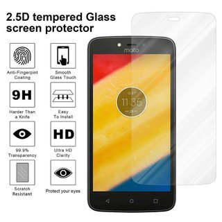 Cadorabo Tempered Glass works with Motorola MOTO C PLUS in HIGH TRANSPARENCY - Screen Protection 3D Touch Compatible with 9H Hardness - Bulletproof Display Saver