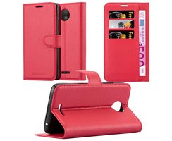 Cadorabo Book Case works with Motorola MOTO C in CANDY...