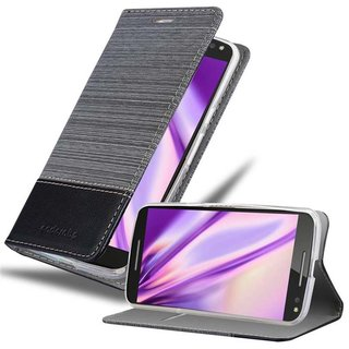 separation shoes 15d63 b3d35 Cadorabo Book Case works with Motorola MOTO X STYLE in GREY BLACK - with  Magnetic Closure, Stand Function and Card Slot - Wallet Etui Cover Pouch PU  ...