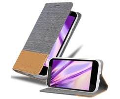 Cadorabo Book Case works with Motorola MOTO G2 in LIGHT...