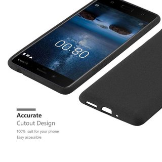 Cadorabo Case works with Nokia 8 2017 in FROST BLACK -...