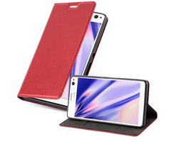 Cadorabo Book Case works with Sony Xperia C4 in APPLE RED...