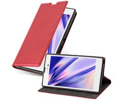Cadorabo Book Case works with Sony Xperia T3 in APPLE RED...
