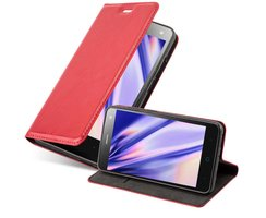 Cadorabo Book Case works with ZTE BLADE L3 in APPLE RED...