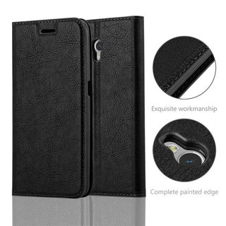 Cadorabo Book Case works with ZTE BLADE V7 in NIGHT BLACK...