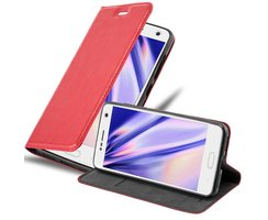 Cadorabo Book Case works with ZTE BLADE V8 in APPLE RED...