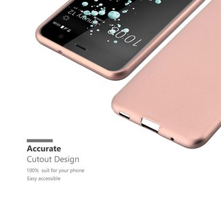 Cadorabo Hülle für HTC U PLAY in METALLIC ROSÉ GOLD -...