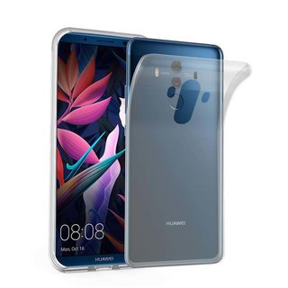 new concept 882f6 b4798 Cadorabo Case works with Huawei MATE 10 PRO in FULLY TRANSPARENT -  Shockproof and Scratch Resistant TPU Silicone Cover - Ultra Slim Protective  Gel ...