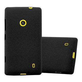 Cadorabo Case works with Nokia Lumia 520 in FROST BLACK -...