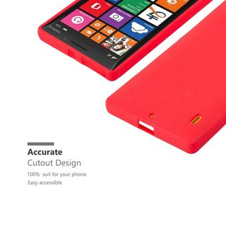 outlet store 6308d c1036 Cadorabo Case works with Nokia Lumia 929 / 930 in FROST RED - Shockproof  and Scratch Resistant TPU Silicone Cover - Ultra Slim Protective Gel Shell  ...