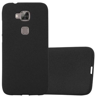 info for 436f9 16d4c Cadorabo Case works with Huawei G7 PLUS / G8 / GX8 in FROST BLACK -  Shockproof and Scratch Resistant TPU Silicone Cover - Ultra Slim Protective  Gel ...