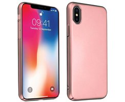 Cadorabo Hülle für Apple iPhone X / XS in METALL ROSÉ...