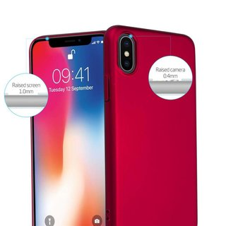 Cadorabo Hülle für Apple iPhone X / XS in METALL ROT -...