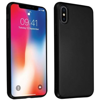 Cadorabo Hülle für Apple iPhone X / XS in METALL SCHWARZ...