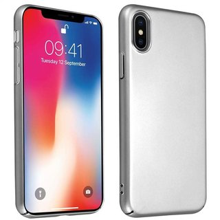 Cadorabo Hülle für Apple iPhone X / XS in METALL SILBER -...