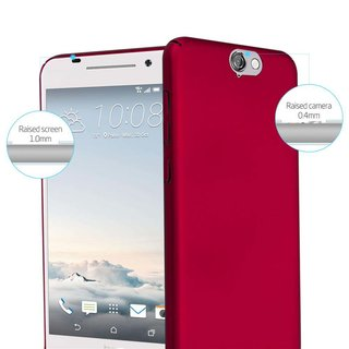 Cadorabo Case works with HTC One A9 in METAL RED -...