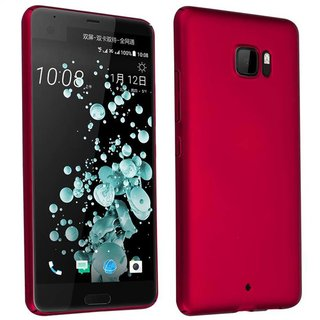 Cadorabo Case works with HTC U ULTRA in METAL RED -...