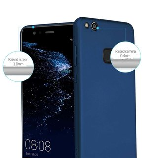 Cadorabo Case works with Huawei P10 LITE in METAL BLUE -...