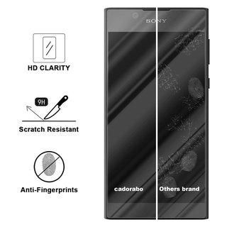 Cadorabo Tempered Glass works with Sony Xperia L1 in HIGH TRANSPARENCY - Screen Protection 3D Touch Compatible with 9H Hardness - Bulletproof Display Saver