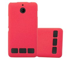Cadorabo Case works with Sony Xperia E1 in FROST RED -...