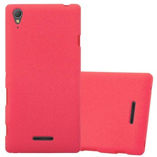 Cadorabo Case works with Sony Xperia T3 in FROST RED -...