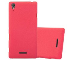 Cadorabo Case works with Sony Xperia T3 in FROST RED...