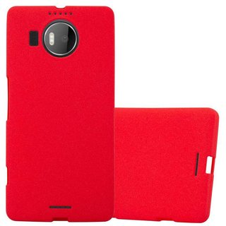 Cadorabo Case works with Nokia Lumia 950 XL in FROST RED...