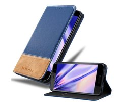 Cadorabo Book Case works with HTC U PLAY in DARK BLUE...