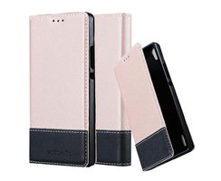 Cadorabo Book Case works with Huawei P7 in ROSE GOLD...