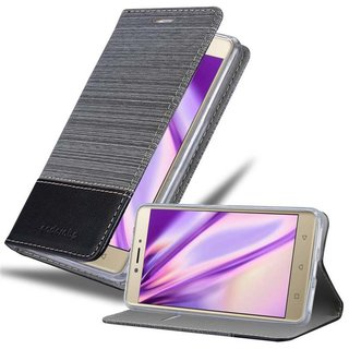 Cadorabo Book Case works with Lenovo K6 NOTE in GREY...