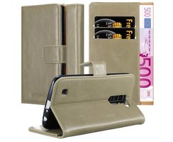 Cadorabo Book Case works with LG K10 2016 in CAPPUCCINO...