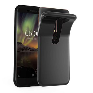 Cadorabo Case works with Nokia 6.1 2018 in BLACK -...
