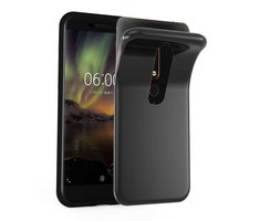 Cadorabo Case works with Nokia 6.1 2018 in BLACK...