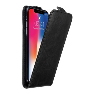 check out 976db a34c1 Cadorabo Case works with Apple iPhone X / XS in NIGHT BLACK - Flip Style  Case with Magnetic Closure - Wallet Etui Cover Pouch PU Leather Flip