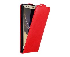 Cadorabo Case works with Honor 7 in APPLE RED Flip Style...