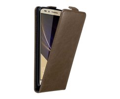 Cadorabo Case works with Honor 7 in COFFEE BROWN Flip...