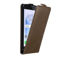 Cadorabo Case works with Honor 8 in COFFEE BROWN Flip...