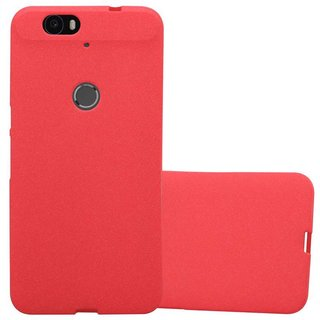 reputable site a01de b5cb0 Cadorabo Case works with Huawei NEXUS 6P in FROST RED - Shockproof and  Scratch Resistant TPU Silicone Cover - Ultra Slim Protective Gel Shell  Bumper ...