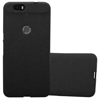 reputable site 36a7c 8fd34 Cadorabo Case works with Huawei NEXUS 6P in FROST BLACK - Shockproof and  Scratch Resistant TPU Silicone Cover - Ultra Slim Protective Gel Shell  Bumper ...