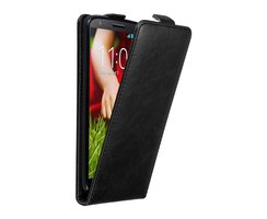 Cadorabo Case works with LG G2 in NIGHT BLACK - Flip...