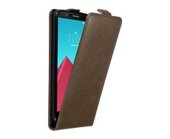 Cadorabo Case works with LG G4 in COFFEE BROWN - Flip...