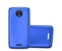 Cadorabo Case works with Motorola MOTO C in METALLIC BLUE...