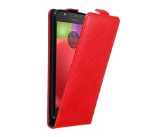 Cadorabo Case works with Motorola MOTO E4 in APPLE RED...