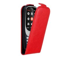 Cadorabo Case works with Nokia 3310 in APPLE RED - Flip...